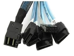 Kabel Avago-LSI SFF8643 SFF-8643 Mini SAS HD To 4 SATA 1m 12g