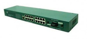 KTI  FAST ETHERNET SWITCH KS-316F 16x10/100