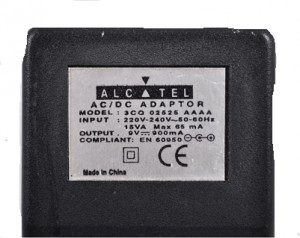 Adapter ALCATEL 3CQ 02525 AAAA 9V 900mA